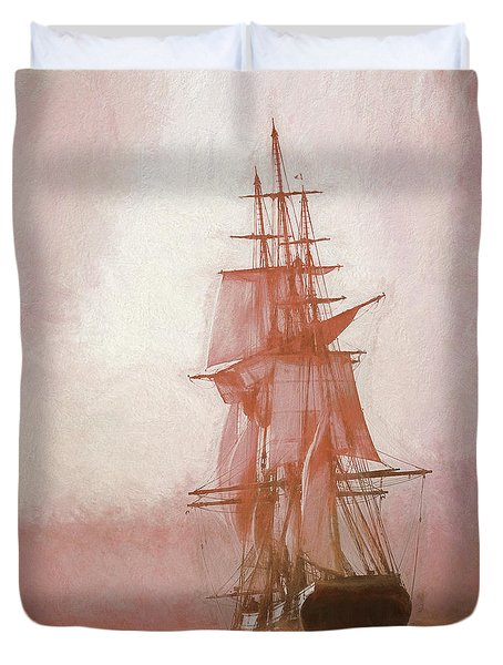 Heading To Salem From The Sea Duvet Cover by Jeff Folger