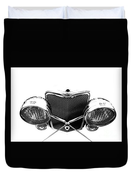 Duvet Cover featuring the photograph Headlights by Stephen Mitchell
