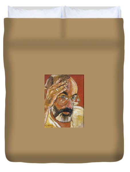 Duvet Cover featuring the painting Headshot by Gary Coleman