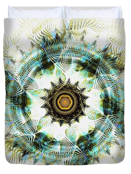 Duvet Cover featuring the digital art Healing Energy by Anastasiya Malakhova