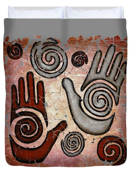 Healing Hands Fresco  Duvet Cover