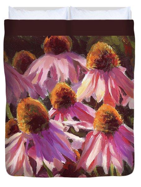 Healing Light Echinacea Cone Flowers Duvet Cover