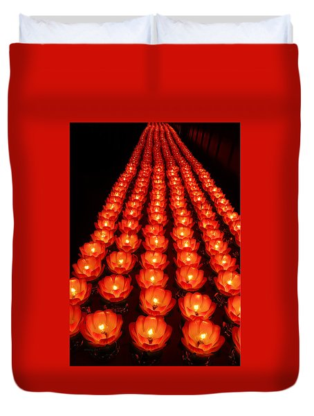 Healing Lights 1 Duvet Cover