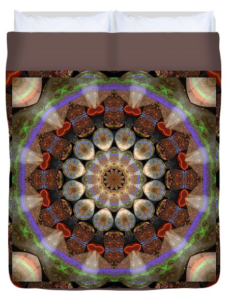 Duvet Cover featuring the photograph Healing Mandala 30 by Bell And Todd