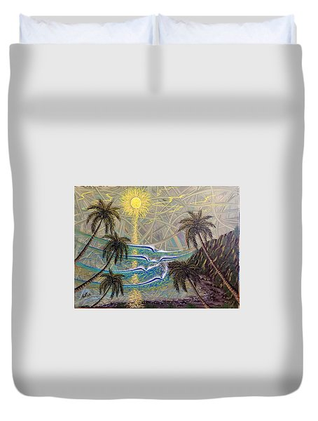 Healing Sunset Duvet Cover