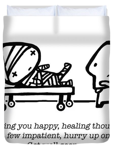 Healing Thoughts Duvet Cover