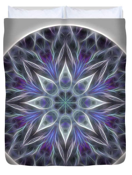 Health And Happiness Mandala Duvet Cover