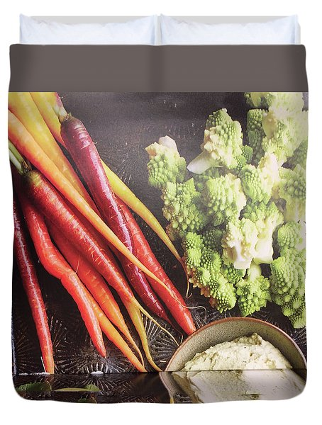 Duvet Cover featuring the photograph Healthy Food Veggie Salad Kitchen Chef Cuisine Birthday Christmas Festivals Mom Dad Festivals Sister by Navin Joshi