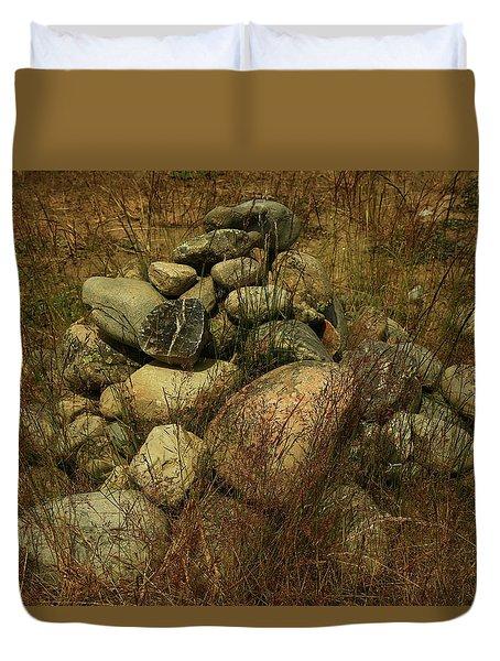 Heap Of Rocks Duvet Cover by Nareeta Martin