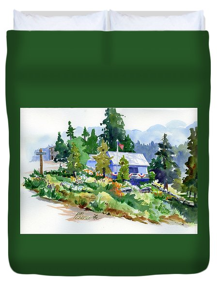 Hearse House Garden Duvet Cover
