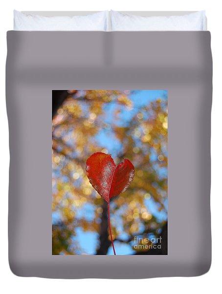 Heart Amongst Tree Top Duvet Cover by Debra Thompson