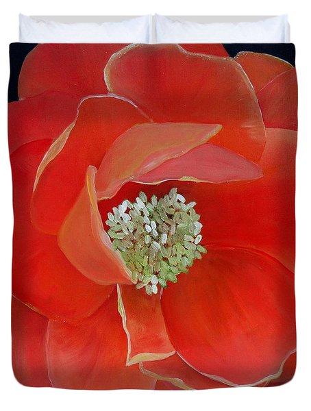 Heart-centered Rose Duvet Cover