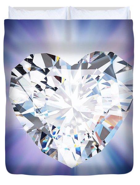 Heart Diamond Duvet Cover by Setsiri Silapasuwanchai