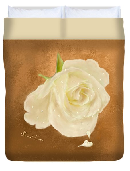 Heart Drops From A Rose Duvet Cover