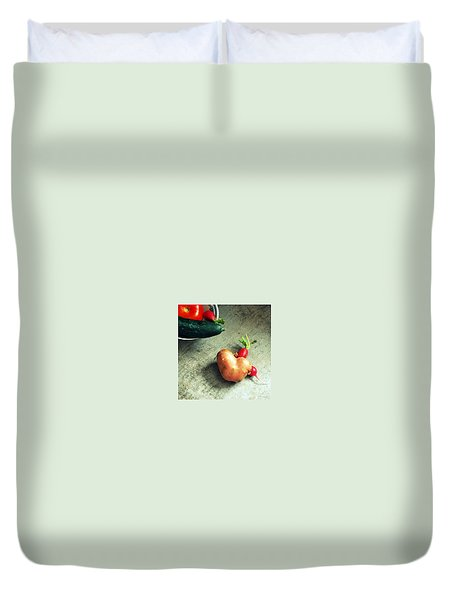 Heart For Lunch Duvet Cover by Marija Djedovic