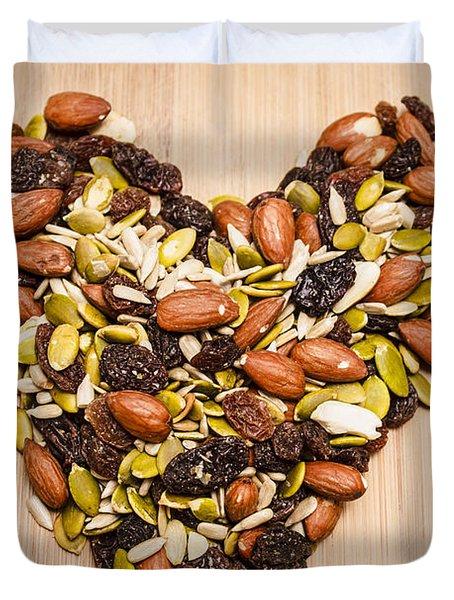Heart Healthy Snacks Duvet Cover