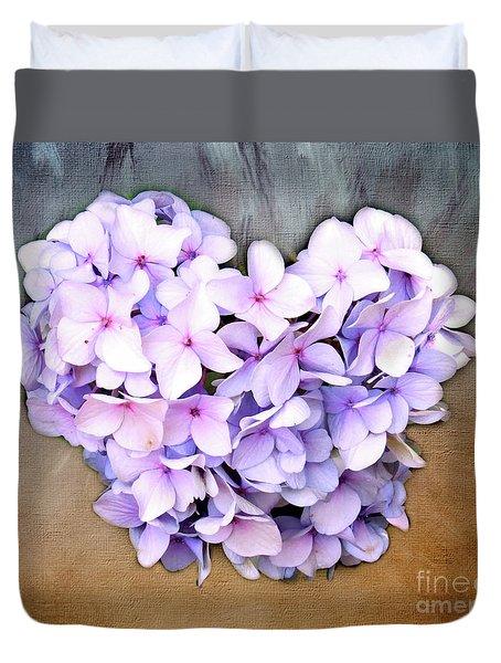 Heart Hydrangea Duvet Cover
