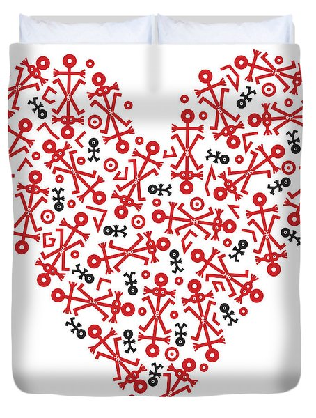 Heart Icon Duvet Cover by Thisisnotme