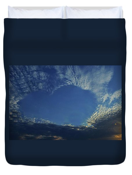 Heart In The Sky Duvet Cover
