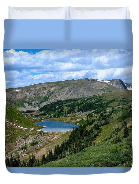 Heart Lake In The Indian Peaks Wilderness Duvet Cover