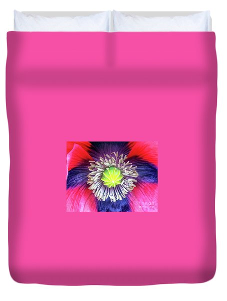 Heart Of A Poppy Duvet Cover