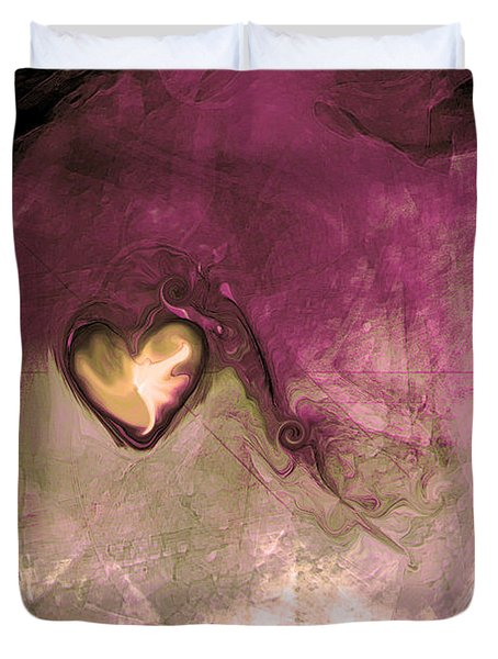 Heart Of Gold Duvet Cover