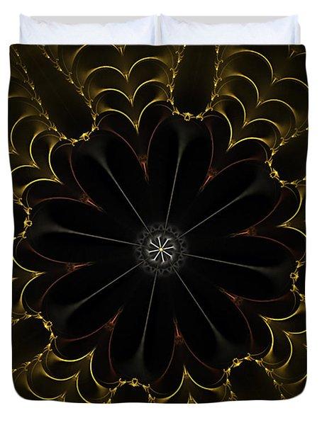 Heart Of Gold Mandala Duvet Cover