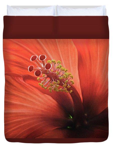 Heart Of Hibiscus Duvet Cover