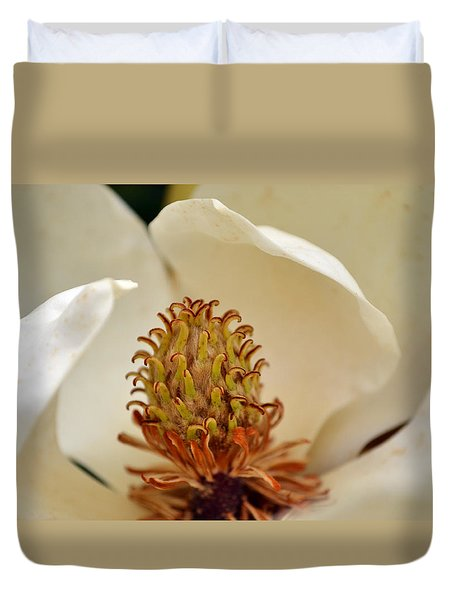 Heart Of Magnolia Duvet Cover by Larry Bishop