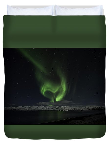 Heart Of Northern Lights Duvet Cover