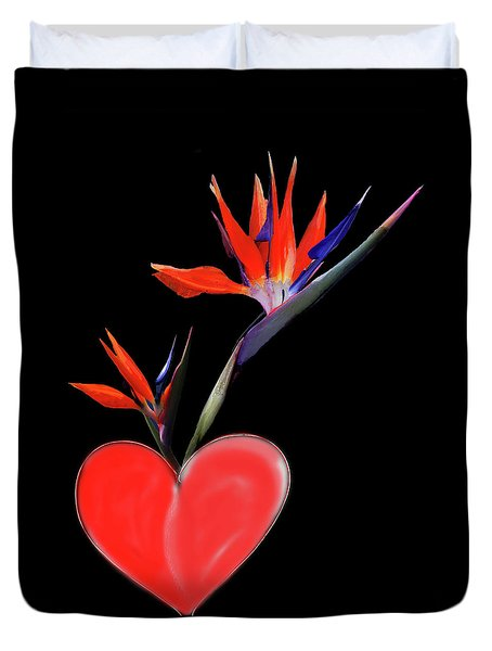 Heart  Of Paradise Duvet Cover