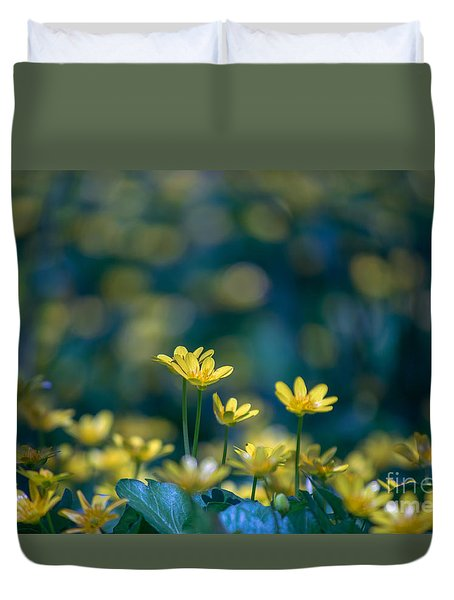 Duvet Cover featuring the photograph Heart Of Small Things by Rima Biswas