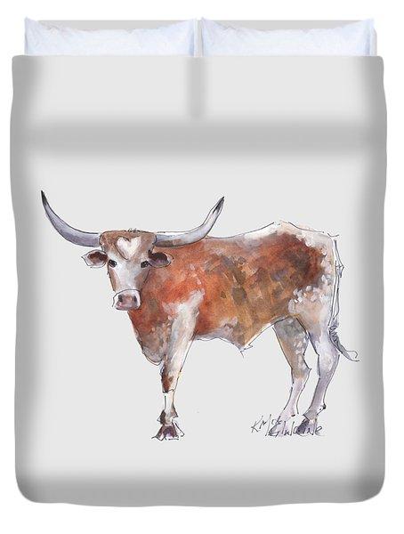 Heart Of Texas Longhorn Duvet Cover