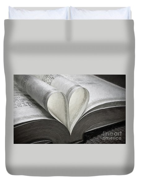 Heart Of The Book  Duvet Cover