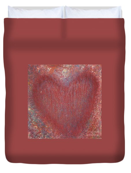 Heart Of The Matter Duvet Cover