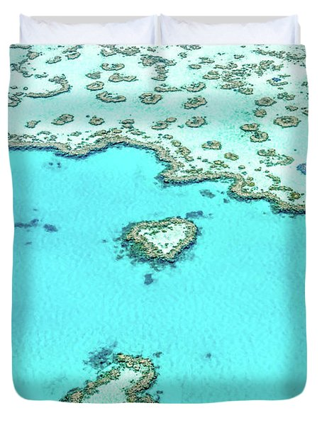 Duvet Cover featuring the photograph Heart Of The Reef by Az Jackson