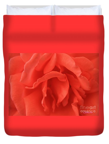 Heart Of The Rose - Red Duvet Cover