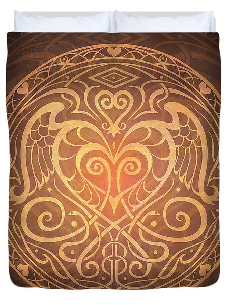 Heart Of Wisdom Mandala Duvet Cover