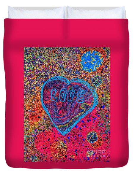 Heart On The Stage Duvet Cover