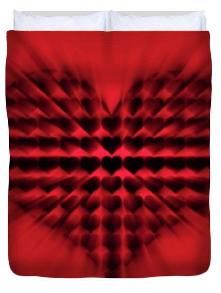 Heart Rays Duvet Cover