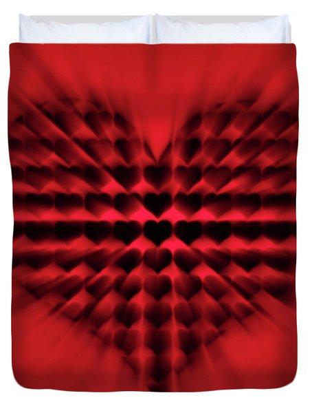 Heart Rays Duvet Cover