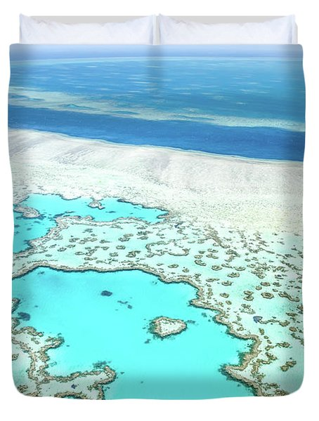 Duvet Cover featuring the photograph Heart Reef by Az Jackson