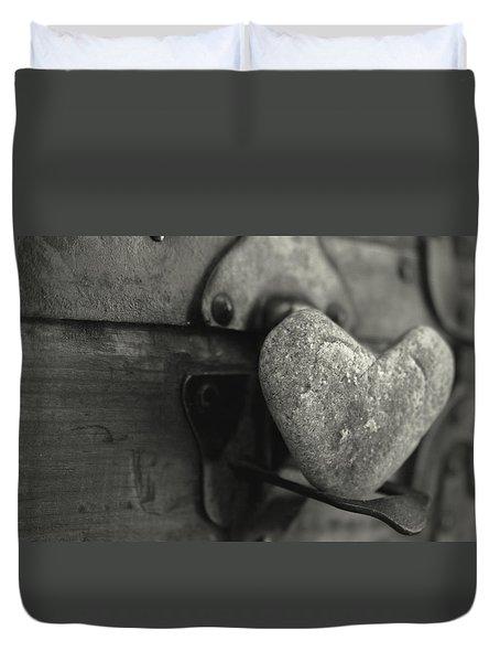 Heart Rock Duvet Cover by Toni Hopper