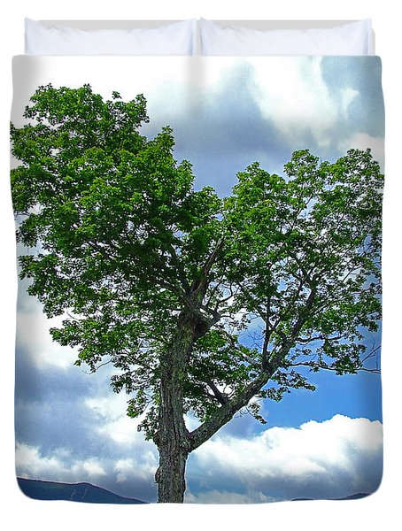 Heart Shaped Tree Duvet Cover
