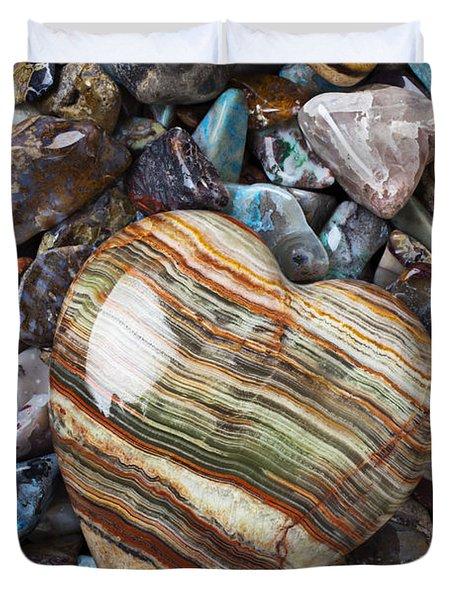 Heart Stone Duvet Cover
