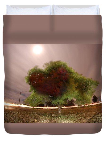 Heart Tree Scene Duvet Cover