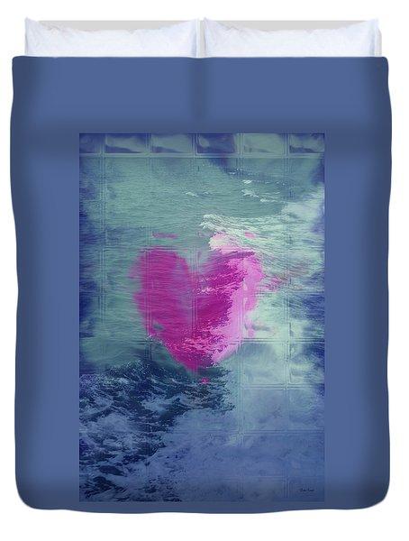 Heart Waves Duvet Cover by Linda Sannuti