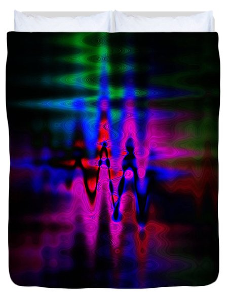 Heartbeat Duvet Cover by Cherie Duran