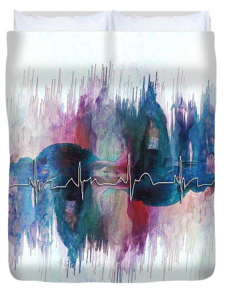 Heartbeat Drama Duvet Cover