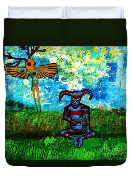 Heartland Ghosts Duvet Cover by Ed Tajchman